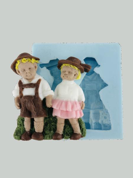 Silikonform für Fondant und Flowerpaste Heidi und Peter
