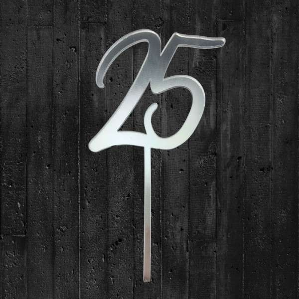 "Cake-Topper ""25"""