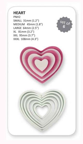 Herz-Ausstecher 6-teilig