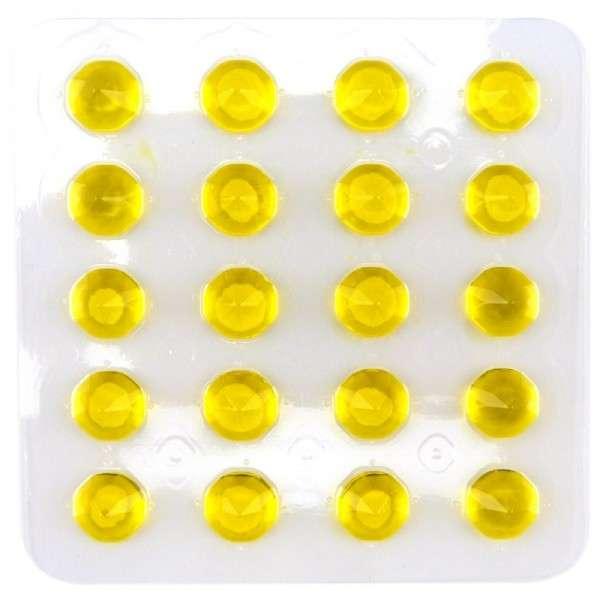 Diamanten soft gelb 20 Stück per Blister Vegetarisch