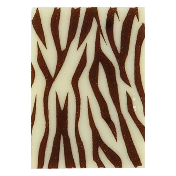 Schokoladenaufleger Rechteck Zebra 35x25mm 315 Stck