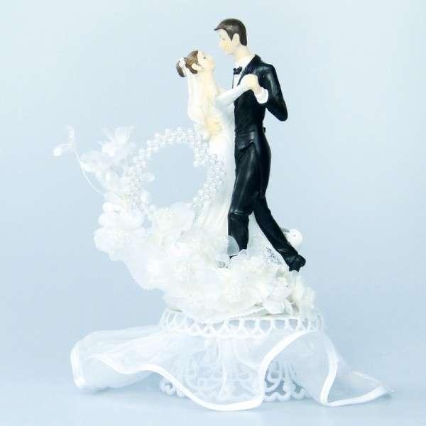 """""""Brautpaar tanzend mit Perlenherz"""""""