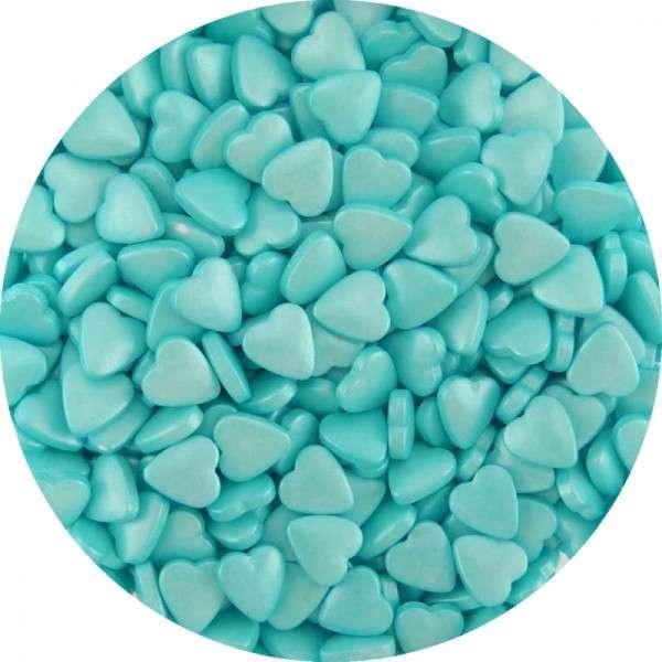 Zucker-Herzen pearl Hellblau 1000g