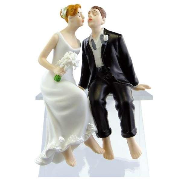 Hochzeitsfiguren Brautpaar küssend