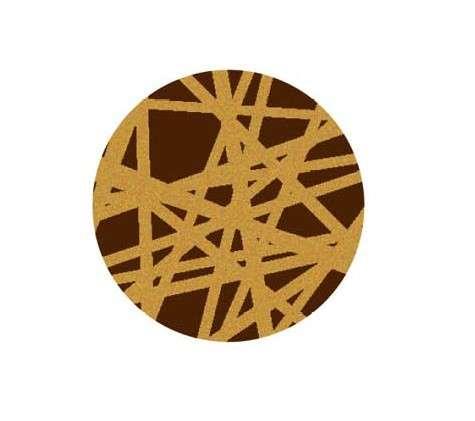 Schokoladendekor Essential rund gold dunkle Schokolade 280 Stck 25 mm