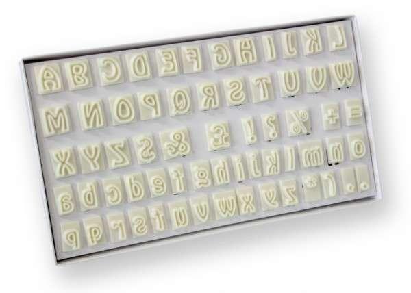 JEM Ausstecher Alphabet 64-teilig