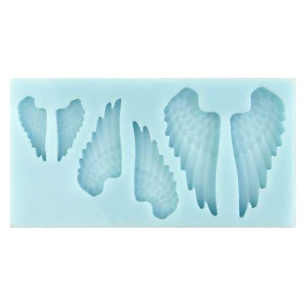 Silikonform für Fondant und Flowerpaste Engelsflügel 3Größen ca. 5,5 ; 4,2 ; 2,7cm