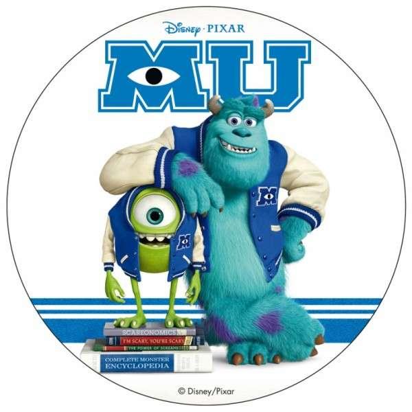 """Esspapieraufleger Monster Uni """"Mike auf Bücherstapel"""" 20cm"""