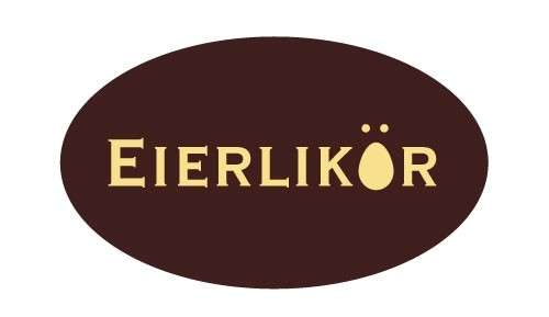 Tortendekoration Schokoladenaufleger Eierlikör