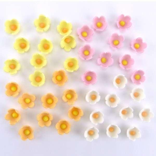 Zuckerdekoration Blumen Pastellfarben