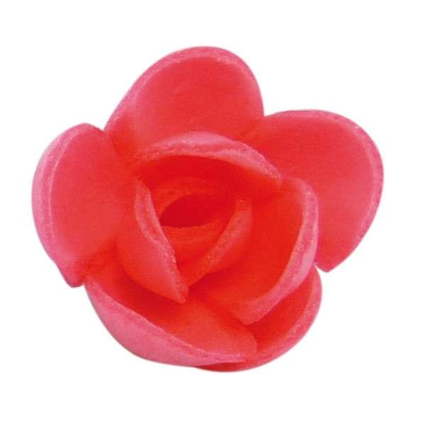 Esspapier Rose klein fuchsia ca. 30 mm 72 Stck