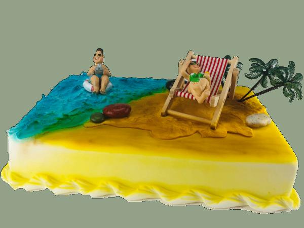 Tortendekoration Holiday Ferien Urlaub Strand