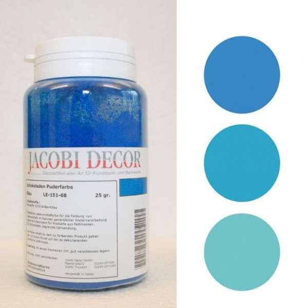 Puderfarbe blau 25g fettlöslich