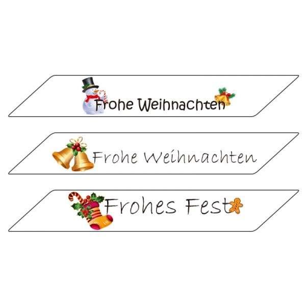 """Zuckeraufleger Schriftzüge """"Weihnachten"""" 3 Stück"""