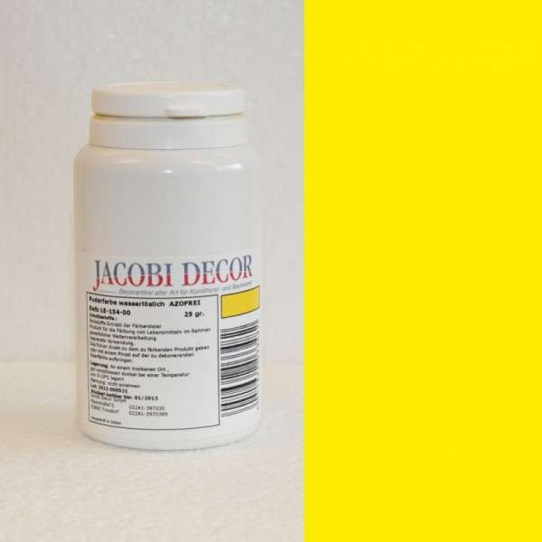 Puderfarbe wasserlöslich gelb 25gr AZOFREI