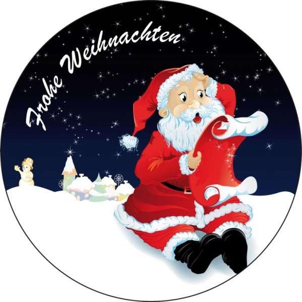 """Esspapieraufleger """"Weihnachtsmann mit Wunschzettel"""" 10cm"""