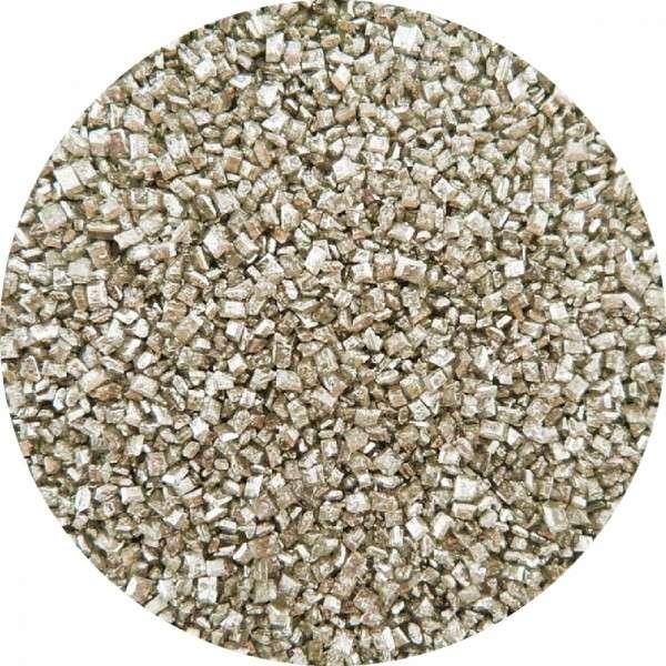 Kristallzucker Metallic Silber 1000g