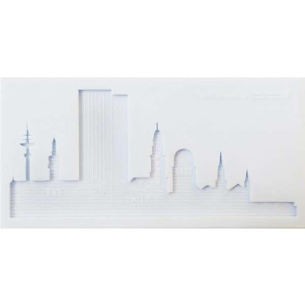 Silikonform Skyline Hamburg 18,7 x 9,2 x 1cm