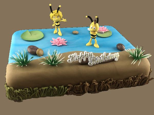 Tortendekoration Biene Maja und Willi
