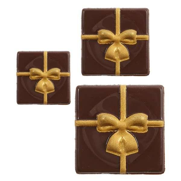 """Schokoladendeko """" Geschenk mit goldenem Band"""" 3 Größen sortiert 109 Stck"""