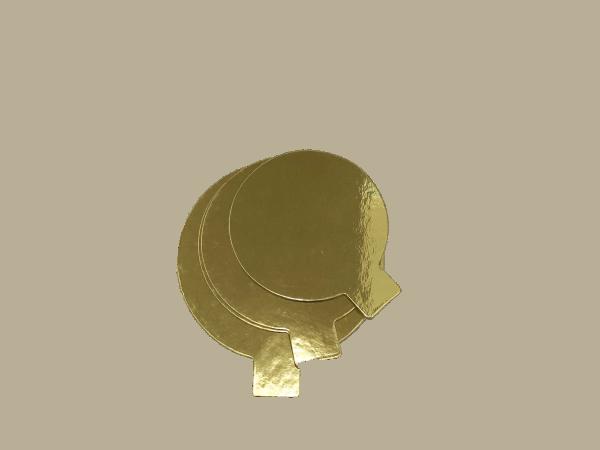 Goldpappe rund 80mm ca.1mm dick , 50 Stck