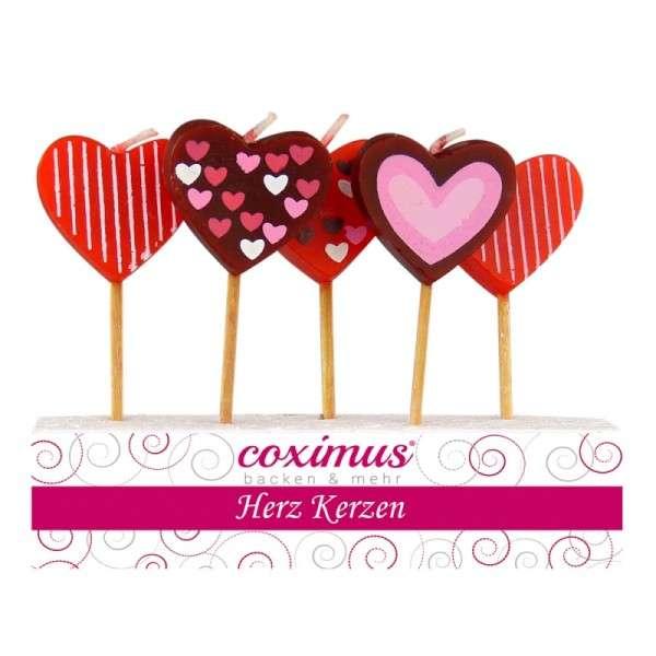Tortendekoration Kerzen Valentinstag