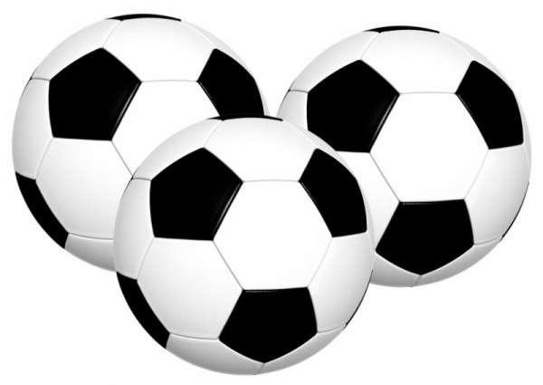Esspapieraufleger Fussball 4 cm 1000 Stück