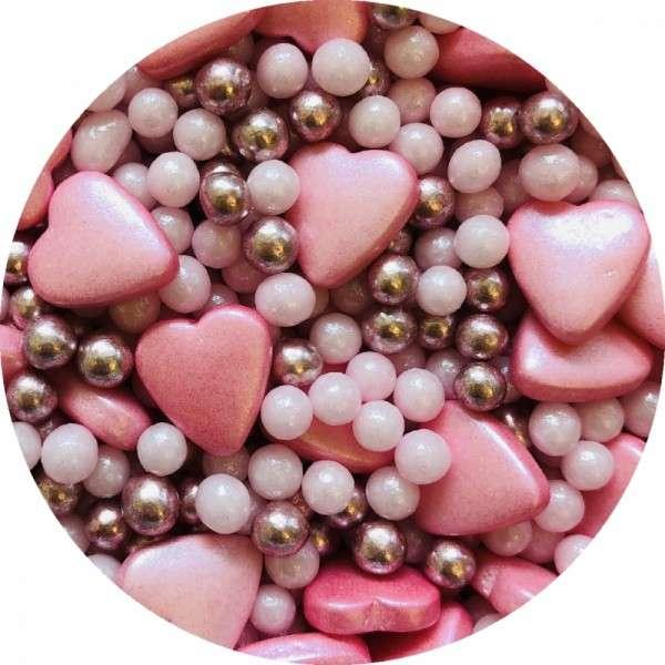 Zuckerherzen Mix rosa 1000g