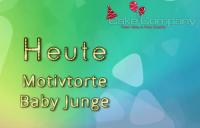 Tortendekoration Baby Junge