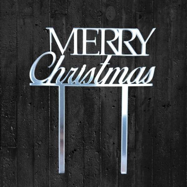 "Cake-Topper ""Merry Christmas"" Acryl Spiegel"