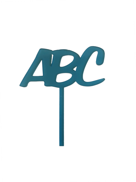 "Schulanfang Cake-Topper ""ABC"" blau"