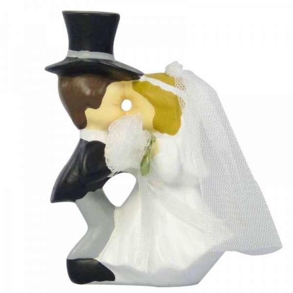 Tortendekoration Brautpaar küssend