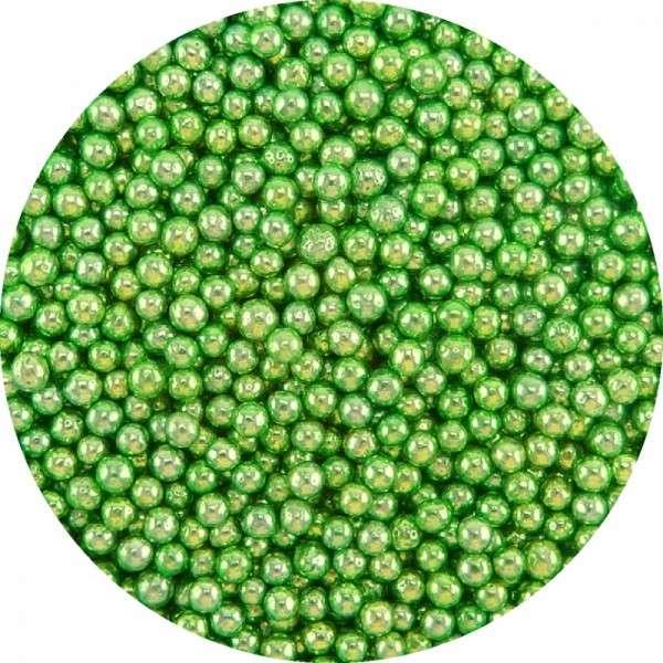 Zuckerperlen Metallic Grün ca.2,5-3mm 950g