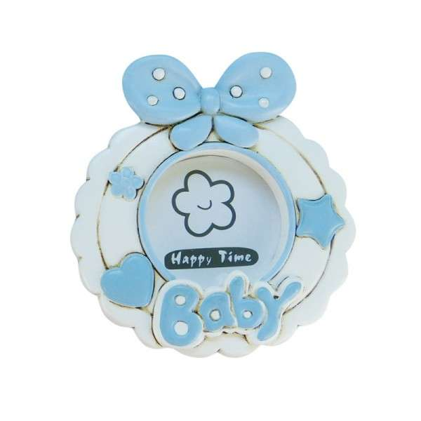 Baby-Fotorahmen mit Schleife blau