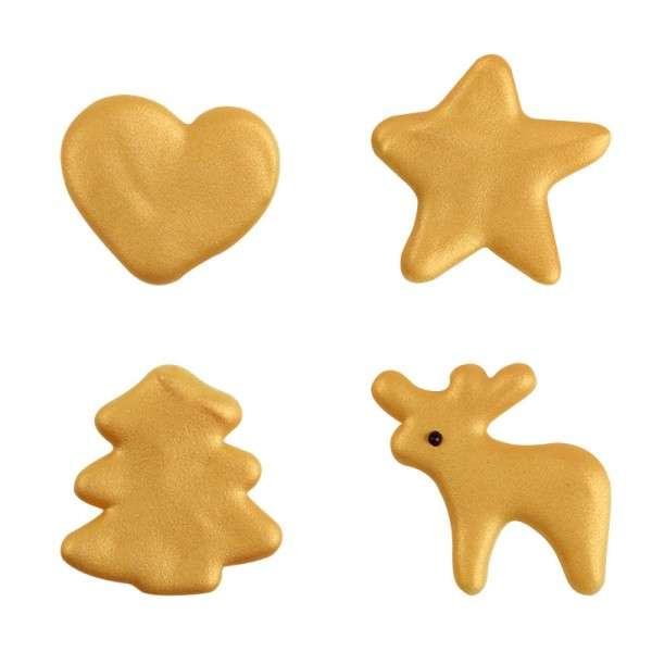 Schokoladendeko Trendy handpainted Gold sortiert ca.35mm , 80 Stck
