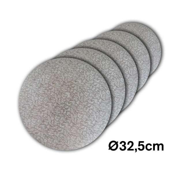 Tortenplatte 325 mm Ø Cake Drum silber ca.3mm dick 5 Stck