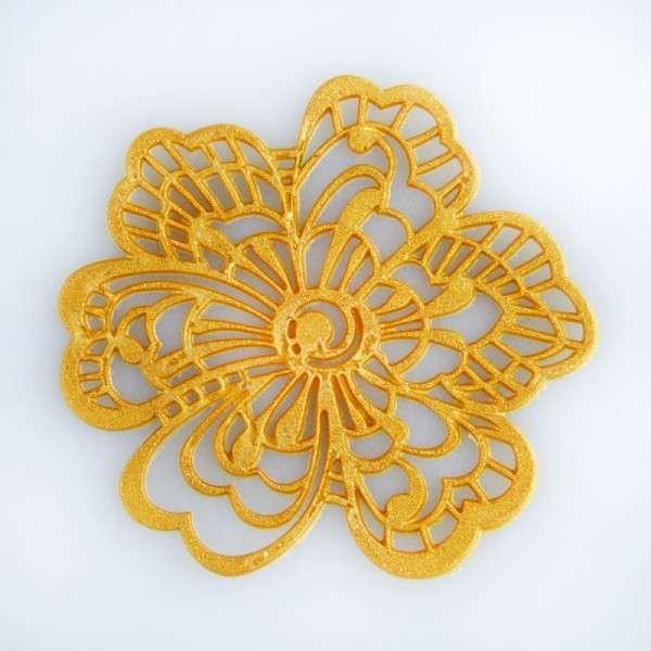"""Sweet lace-pearl gold """"Blüte"""" ca.5cm essbare Spitze - fertig zum Gebrauch"""