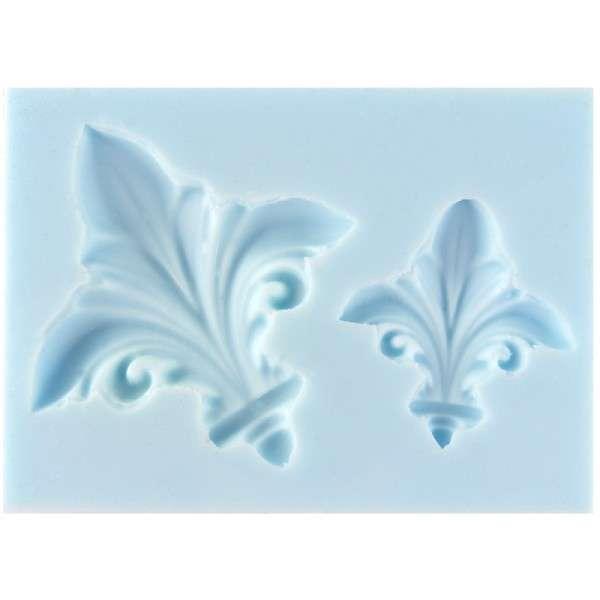 Silikonform Lilie 2 Größen ca. 3 x 3,5 , 5 x 5 cm