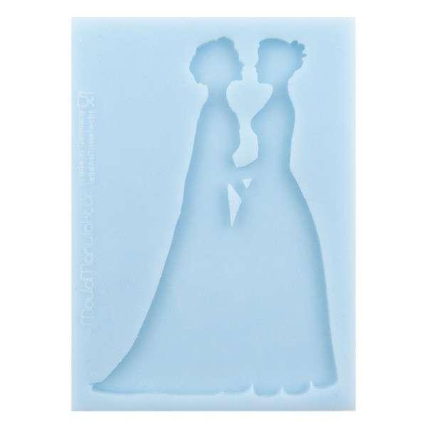 """Silikonform """"Silhouette Brautpaar W/W"""""""