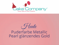 Puderfarbe Metallic Pearl glanz gold 25 gr