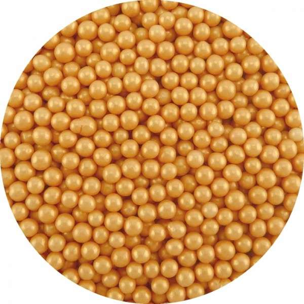 Zuckerperlen Gold ca.4mm 950g