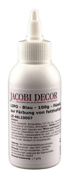 LIPO Blau Azofrei 100g zur Färbung von fetthaltigen Lebensmitteln