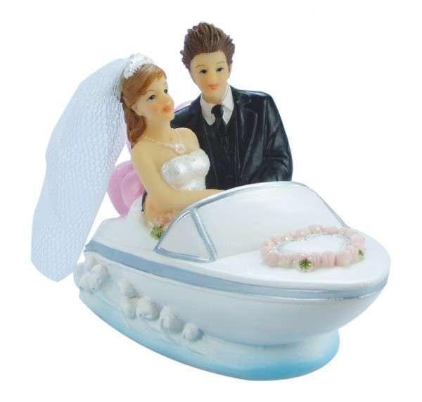 Brautpaar im Boot