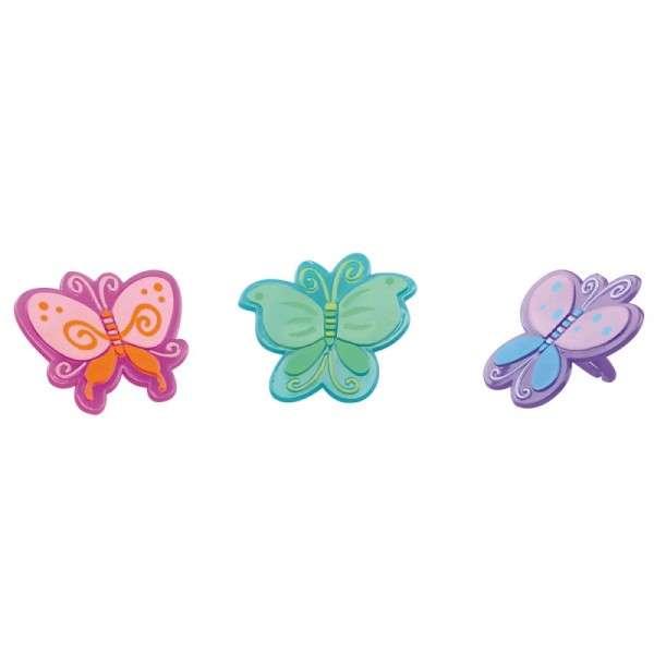 Tortendekoration Schmetterlingring sortiert