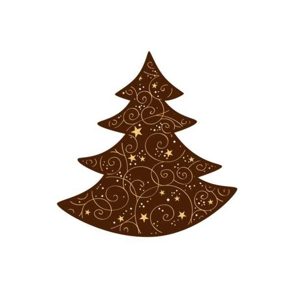 Schokolade Weihnachten Baum