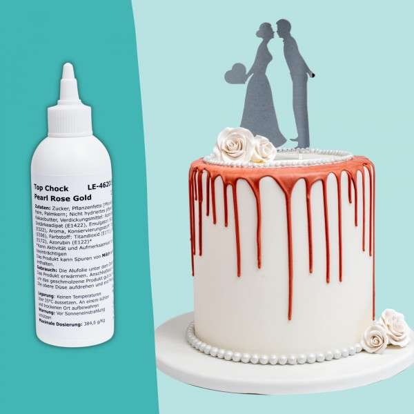 Top Choc Drip Cake Rosegold Titelbild