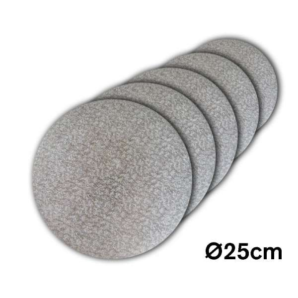 Tortenplatte 250 mm Ø Cake Drum silber ca.3mm dick 5 Stck