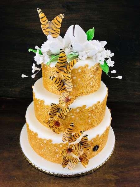 Sweet Lace Pearlgold Blüten und Blätter