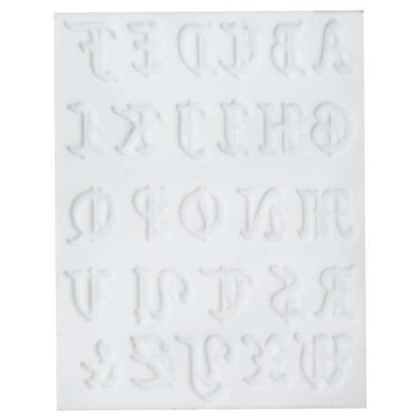 Silikonform für Fondant und Flowerpaste Alphabet