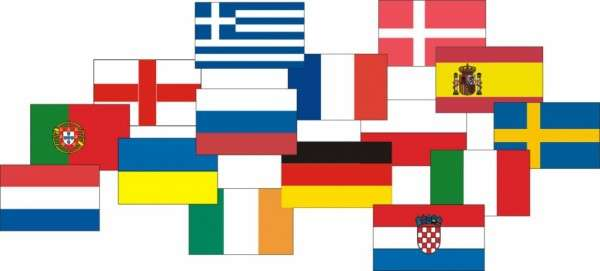 Esspapieraufleger Europaflaggen 4x5cm 1000 Stück